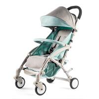 婴儿推车超轻便携式简易折叠小宝宝可坐可躺儿童迷你口袋伞车zf10 旗舰版亚麻蓝 (少量现货)
