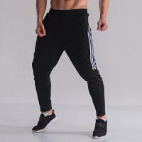 秋冬季足球训练裤透气收小腿骑行跑步运动长裤男女速干口袋有拉链