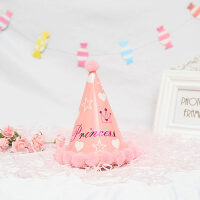 生日派对帽 儿童周岁满月装扮头饰生日帽 party用品 宝宝 生日帽