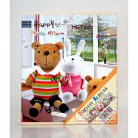 可爱metoo小熊相册 4D/大6寸相册40张 盒装相册 C款