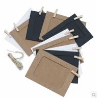 日照鑫  日韩文具  牛皮纸相框 挂式纸相框 DIY相框 纸制照片墙 6寸套装 1套装
