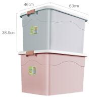 特大号衣服收纳箱塑料整理箱衣柜收纳车载储物箱加厚家用收纳盒大 加高加厚升级款