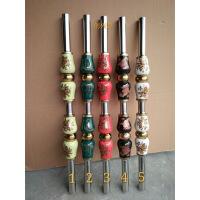 304不锈钢楼梯扶手立柱 室内陶瓷立柱栏杆 阳台护栏 烤花葫芦