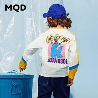 【2件3折:90】MQD男童长袖T恤纯棉2020春季新款中大儿童圆领运动上衣卡通体恤