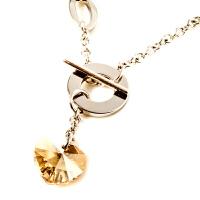 梦克拉 钨金项坠项链吊坠 链牌 水晶之心 项链吊坠