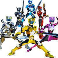 玩具五合体变形人偶系列星甲斗神战神