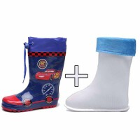韩国儿童雨鞋男童水鞋防滑四季可加棉宝宝雨靴幼儿园卡通橡胶套鞋