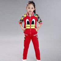 女童秋装运动套装新款韩版时尚潮衣儿童时髦洋气中大童两件套