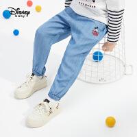 【3折券后价:64.5元】迪士尼男童时尚宽松长裤帅气休闲2021春装卡通儿童宝宝裤子
