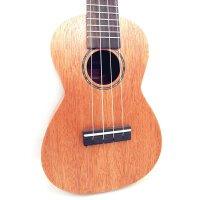 Ashtons ukulele 尤克里里 23寸 C型 乌克丽丽 ukulele 奥古曼背侧板 (面单)音孔贝壳镶嵌 UKE400SMH--400824 (送:送背包 套弦 尤克里里拨片 教材)