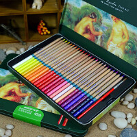 MARCO马可雷诺阿水溶性彩色铅笔3120-24 36 48色 彩铅铁盒 水溶彩铅 马可铅笔