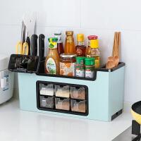 多功能调料盒置物架调料瓶收纳架调味罐收纳盒调味品厨房用品套装