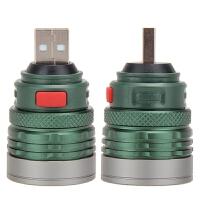 USB充电LED灯强光手电筒 多功能灯头