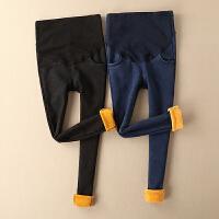 孕妇裤子加绒冬装时尚新款加厚牛仔长裤大码外穿小脚裤怀孕期打底
