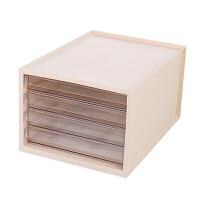 办公室桌面收纳盒多层桌面文件收纳柜置物架抽屉式办公文具储物柜