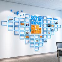 【品牌热卖】励志亚克力3d立体墙贴画相框公司办公室标语文化背景墙贴纸装饰品 超