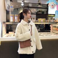 外套女秋冬新款韩版宽松加厚学生女士棉衣潮 均码 白色