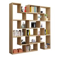 【旗舰精品】简约组合书柜创意转角书架卧室落地简易置物架隔断展示柜格子柜