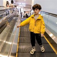 男童外套春秋款宝宝儿童加绒上衣韩版男孩