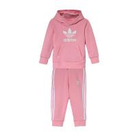 adidas阿迪达斯三叶草2019新款女婴童0-4岁长袖卫衣套装运动服DV2810