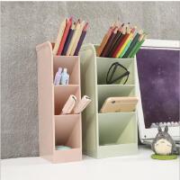 多功能桌面收纳笔筒横竖两用办公文具收纳整理盒简约多格置物