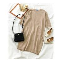法式气质裙子秋冬季装女新款韩版套头中长款针织复古连衣裙潮 均码