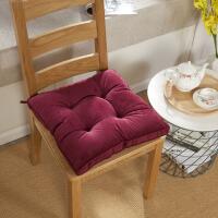 椅子坐垫加厚餐桌椅垫座垫家用冬季学生女教室凳子垫子办公室屁垫 45*45cm方形厚度8cm 有绑带