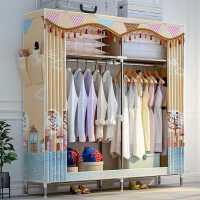 1.2米宽家用简易牛津布衣柜钢管加厚加固全钢架组合折叠布艺拉链