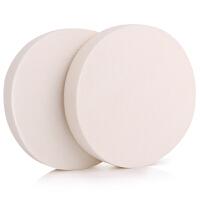 优家(UPLUS)加厚圆形干湿两用化妆粉扑2个装(颜 色 随 机)(上妆均匀 粉底BB霜用 定妆工具
