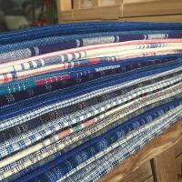 崇明土布拼布刺子绣布料老粗布手织布纯棉布头定制 混搭25片 每片50*45厘米(