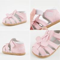 婴儿学步机能包头凉鞋1-3岁宝宝凉鞋夏季女童软底鞋可爱公主鞋