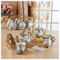 【热卖新品】 欧式水具套装家用水杯子创意耐热陶瓷冷水壶凉水壶客厅茶具