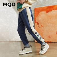 【折后券后预估价:131】MQD童装男童运动裤2020冬装新款儿童鸳鸯时尚裤子
