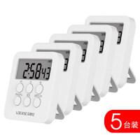 多组定时闹钟 计时器提醒器学生可静音图书管做题学习考研电子表闹钟定时器厨房Y 5台装