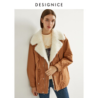 【�豳u精�x】商�鐾�款迪�尼斯2020冬季新款派克服加厚中�L款羊毛皮棉衣外套女