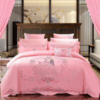 婚庆四件套全棉纯棉六八件套新婚房结婚床上用品床单被套十件定制