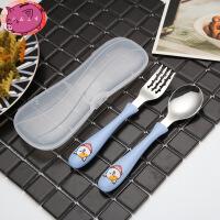 韩式创意可爱便携式 儿童餐具宝宝吃饭叉勺筷子三件套 组合旅行套装