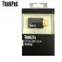 ThinkPad联想转接头HDMI转VGA转换器 投影仪视频转接线 ThinkLife转换器标准HDMI转VGA接头4X90Q17287