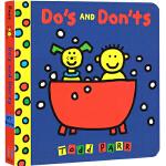 Do's and Don'ts 纸板书 宝宝情商培养 淘弟 Todd Parr 儿童家庭成长亲子教育绘本