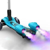 儿童滑板车3轮溜溜车3-6岁闪光带音乐喷雾可折叠男女孩大号踏板车zf02