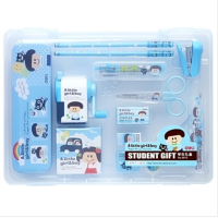 开学必备文具 韩国创意文具 小学生卡通文具学习套装 男女礼盒装 儿童六一礼物
