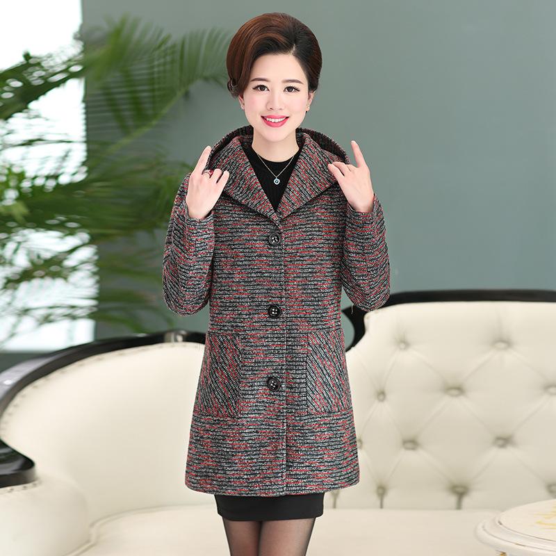 中老年女装外套春秋装新款大码上衣40-50岁中年妈妈装秋冬中长款   批量拍下不发货