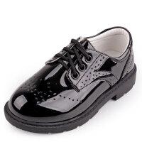 儿童夏英伦春秋花童演出软底学生大小孩黑色男童皮鞋