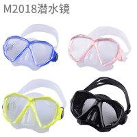 浮潜防雾潜水镜浮潜面罩可选近视硅胶面镜水肺深潜水游泳装备