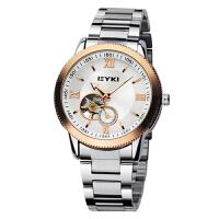 艾奇(EYKI) 商务时尚皮带表 镂空潮流表 机械钢带表 男士手表 8622