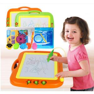 儿童画板写字板 大号彩色磁性画板带印章 儿童画画板涂鸦板 宝宝益智玩具