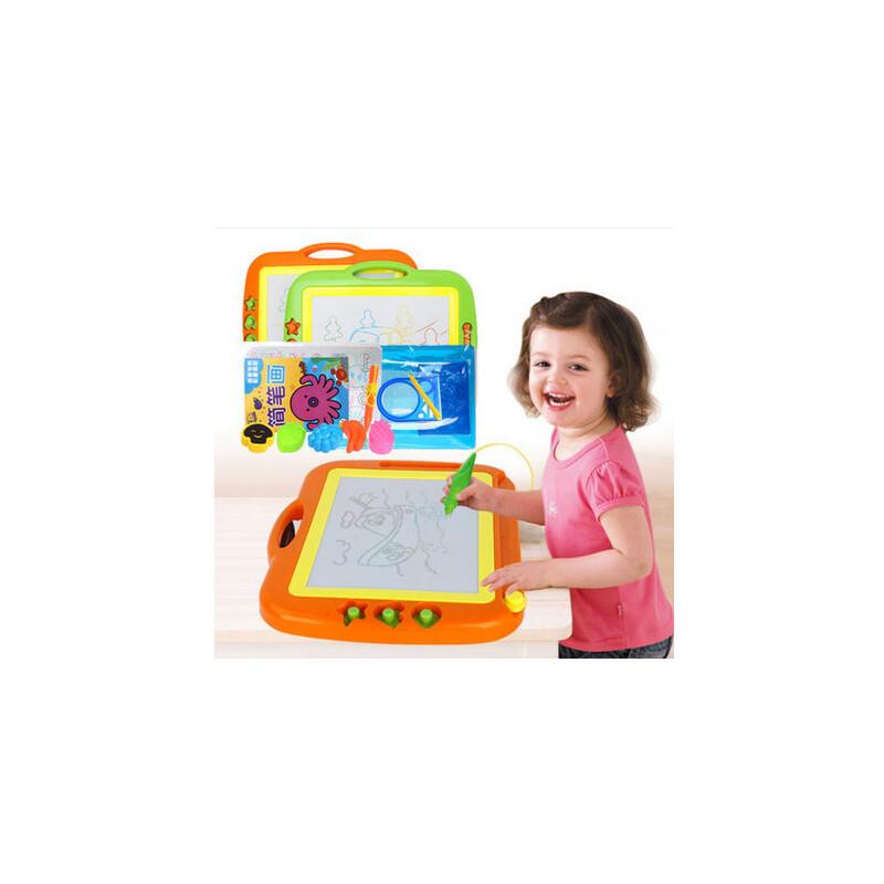 儿童画板写字板 大号彩色磁性画板带印章 儿童画画板涂鸦板 宝宝益智玩具益智玩具限时钜惠