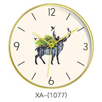 北欧挂钟客厅个性创意时尚现代简约时钟静音家用卧室欧式艺术钟表