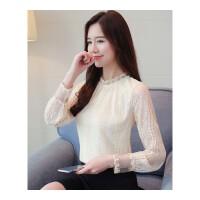 单款加绒】新款韩版蕾丝衫加绒长袖打底衫女小衫百搭秋冬上衣