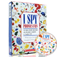 I Spy Phonics Fun Boxed Set With CD (12 Books, 16 Flash Car